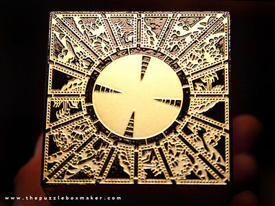 Lament Configuration - Etched Brass and Solid Mahogany - Hellraiser Puzzle Box