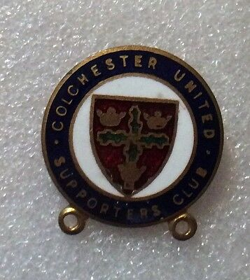 Vintage Colchester United Football Supporters Club Enamel Pin Badge