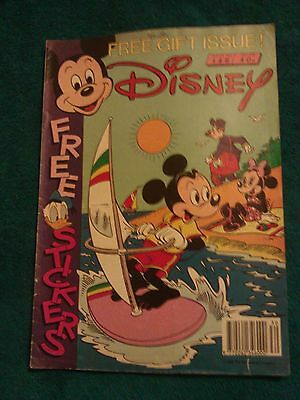 Disney Comic with some stickers from around 80s, 90s (Rare)