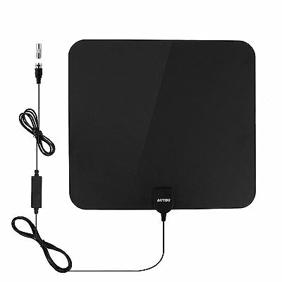 AuYou Indoor Aerial for Digital HD TV- 50 Mile Range Ultra Thin Antenna with 16