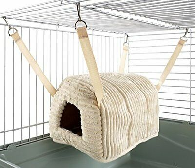 Rat Ferret Chinchilla Igloo Bed House Cuddle Up Snuggle Toy Hammock Guinea New W