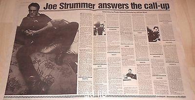 Joe Strummer Answers The Call-Up, Sandinista 3- Page Centre-Spread Article 1980