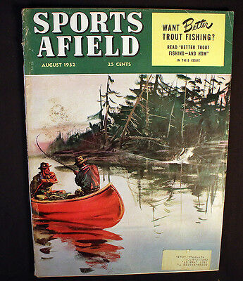 Vintage Sports Afield 1952 Trout Fishing Old Winchesters Muskie Great Ads