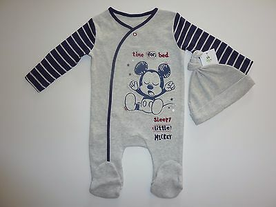 Disney Time For Bed Sleepy Little MICKEY 2 Piece Set NWT