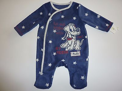 Disney Fun and Giggles with My Friend PLUTO Fleecy Sleepsuit NWT