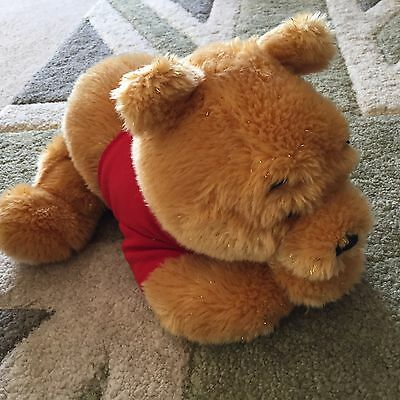 "NEW 12"" Gorgeous Sparkling Winnie The Pooh Disney Store Glittery Fur"