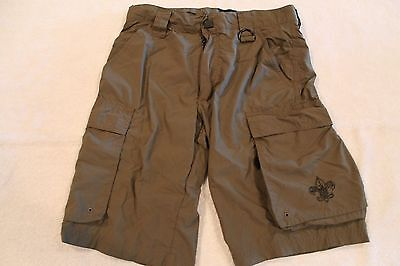BSA Boy Scouts of America OFFICIAL Centennial UNIFORM SHORTS Youth X-Large Olive