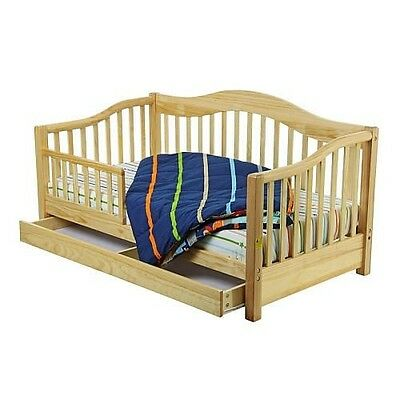 Dream On Me Toddler Day Bed with Storage Drawer - Natural