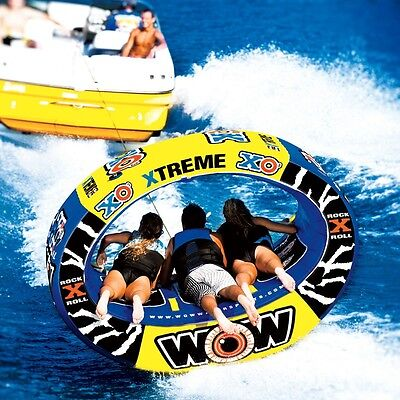 World of Watersports WOW XO Xtreme 1-3 Rider Inflatable Towable Tube