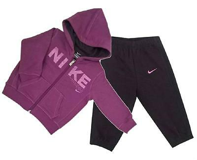 Nike Baby / Infant Hooded Fleece Jogging Suit  3-36 mths tracksuit top bottoms