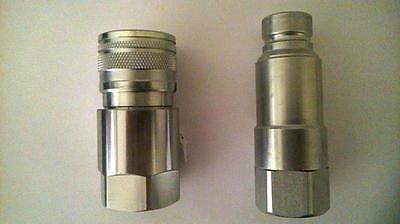 New  1/2 Flat Face Quick Coupling  { High Pressure Release }