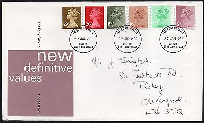 FDC - GB - 1982 New Definitive Values - First Day Cover