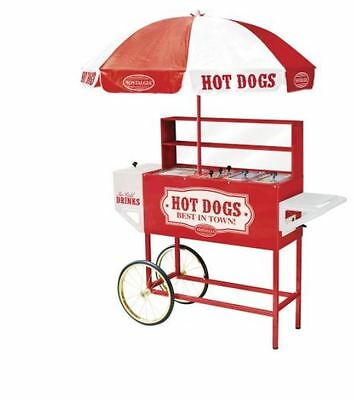 NEW Food Hotdog Cart Trailer Mobile Concession Stand Hot Dog Kiosk Catering Roll