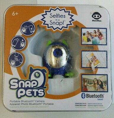 New Wowwee Snap Pets Portable Bluetooth Camera Blue