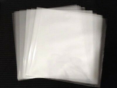 "(Choose Qty) Clear Plastic 45 RPM Outer Sleeves 7"" Vinyl Record Covers 2.5-3 Mil"