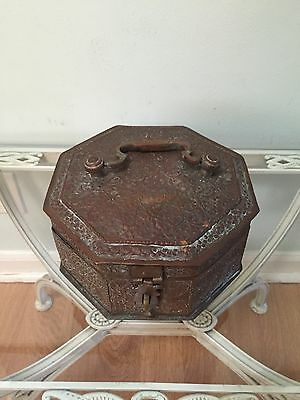 Antique Betel Nuts Copper And Brass Box