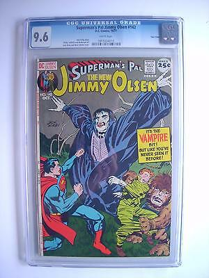 Superman's Pal Jimmy Olsen #142 Cgc 9.6 Kirby Cover/story/art White Pgs. Dc 1971