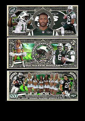 New York Jets Dollar Bill A4 Poster