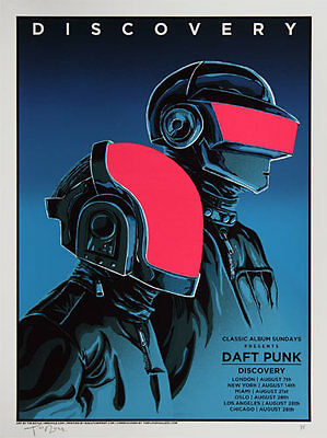 Tim Doyle Daft Punk - Discovery Limited Edition Silkscreen Poster