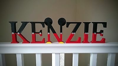 ��������Mickey Mouse Wooden Name Letters Disney Bedroom Gift Child Nursery Decor