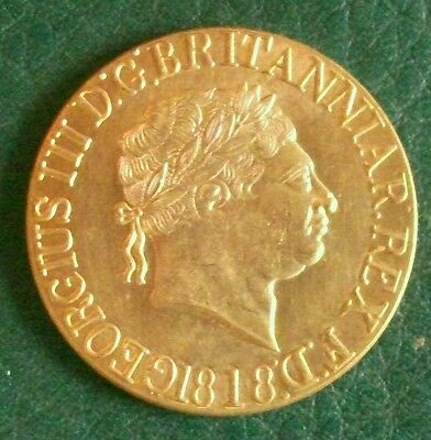 1818 SOVEREIGN Copy. MINT CONDITION.  (FREE UK POSTAGE AVAILABLE)