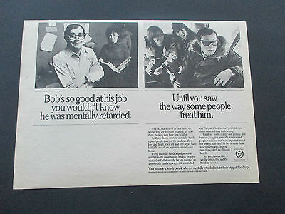 """Vintage 1981 International Year of Disabled Persons Print Ad, 10.375"""" X 7.375"""""""