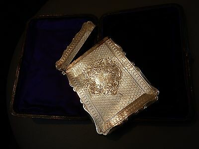 VICTORIAN SILVER VISITING CARD CASE, maker's mark CC, Birmingham 1873,