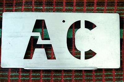 London Transport Central Area GARAGE CODE STENCIL PLATE for WILLESDEN ( AC )