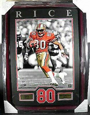 Jerry Rice San Francisco 49 ers NFL Football,80 cm !!!!!  Wandbild Holz Rahmen