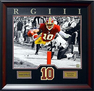 Robert Griffin III Washington Redskins NFL Football,80cm !! Wandbild Holz Rahmen