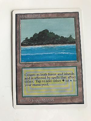 Tropical Island - Unlimited Edition - Mint - Rare Magic The Gathering Card