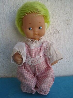 Antique Very Rare Barriguitas Famosa Spanish Doll Toy Green Hair