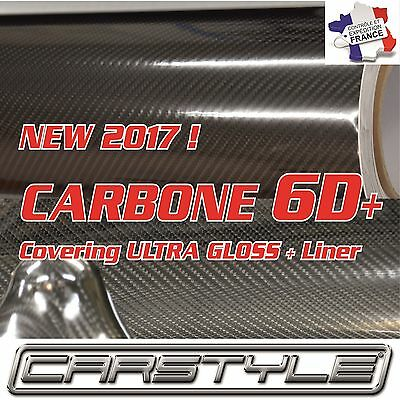 NEW 2017 ! CARBONE 6D+ film vinyle Rouleau 152x200cm covering Bubble Free NOIR