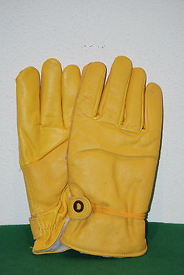 INVICTA vintage gloves ski winter true leather vera pelle padded no gore tex