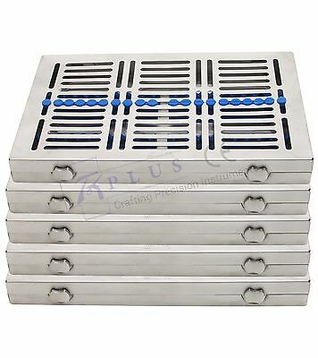 Sterilization cassette trays for 20 instruments autoclavable dental rack