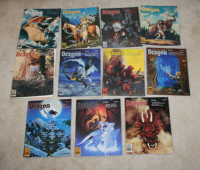 Vintage Dragon Magazine Lot 1986 - 11 Issues Almost Full Year