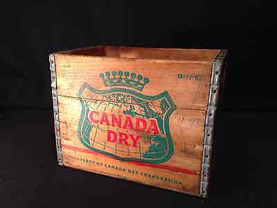 Canada Dry Original Wood Shipping Crate Vintage Antique Hipster Decoration