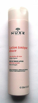 Nuxe Gentle Toning Lotion For Face With Rose Petals Alcohol Free Toner 200ml