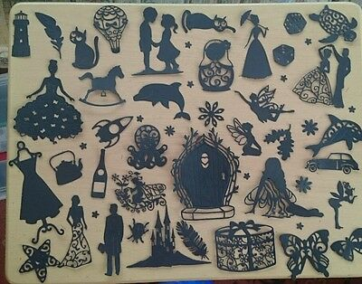 black sillouette card making kit. craft clear out.