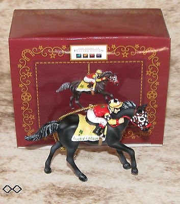 """TRAIL OF PAINTED PONIES Godspeed 2016 Ornament~2.5"""" Tall~Resin~Race Horse~"""