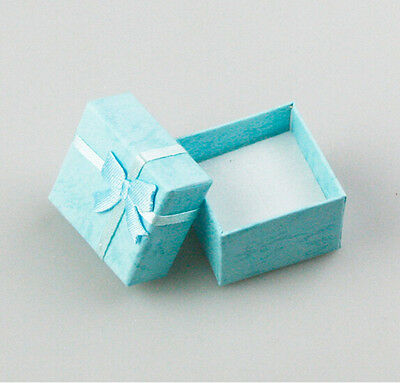 3 Pcs Square Jewellery Box LightBlue Jewelry Gift Boxes Case For Ring CH