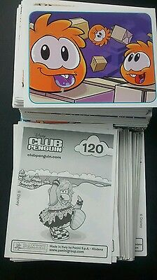Lot d'images panini au choix (Club penguin)