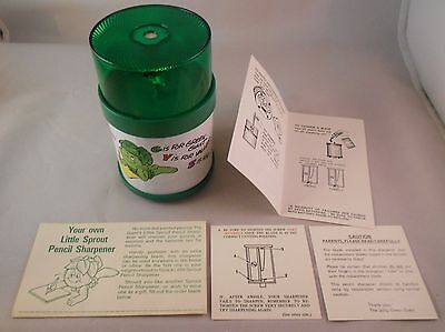 Green Giant  LITTLE SPROUT  Electric Pencil Sharpener  Mint In Mint Box  RARE