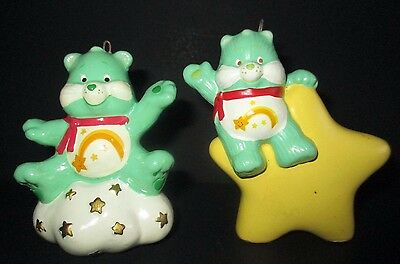 Set of 2 Vintage Care Bear Ornaments Wish Bear American Greetings