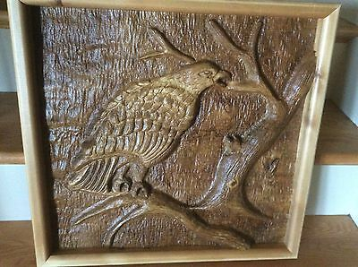 Native American / Canadian Wood Carved Eagle Art Picture