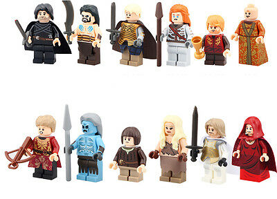 Minifigures Khal Drogo Lord Varys Tyrion Lannister White Walker Building Toys