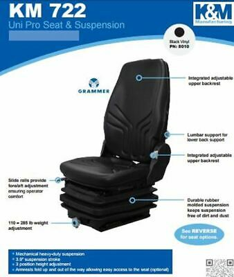 KM 722 Uni Pro Seat and Suspension Seat Multiple Construction Applications, Mini