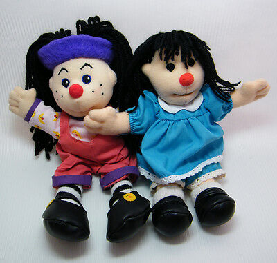 "Big Comfy Couch MOLLY & LOONETTE Dolls 8"" & 9"" Beanie Size Cloth Dolls"