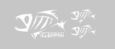 Kit 3 adesivi G.Loomis pesca stickers decals