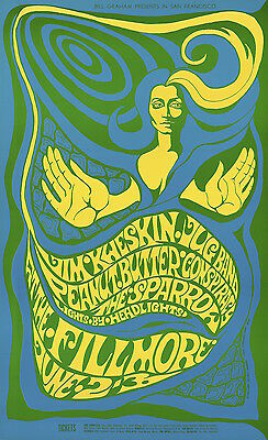 MINT Steppenwolf Peanut Butter Conspiracy 1967 BG 66 Fillmore Poster